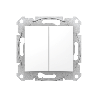 SEDNA Csillárkapcsoló, rugós bekötés, 10AX, IP44, fehér (105)