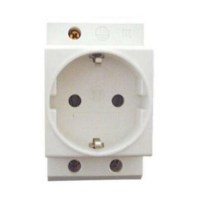 Sínre pattintható dugalj Led-es visszajelző lámpával 2p+F 16A 220-240V