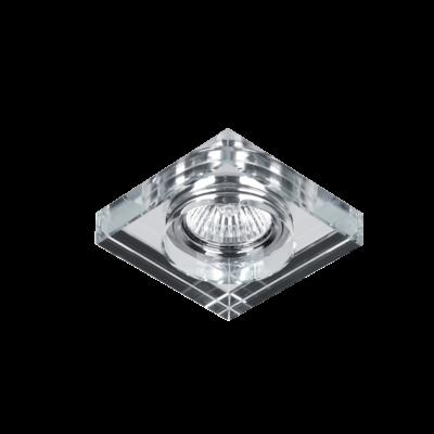 Beépíthető lámpatest IP20, négyzet, alu, üveg