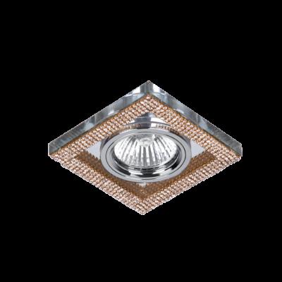Beépíthető lámpatest IP20, négyzet alakú, arany/kristály