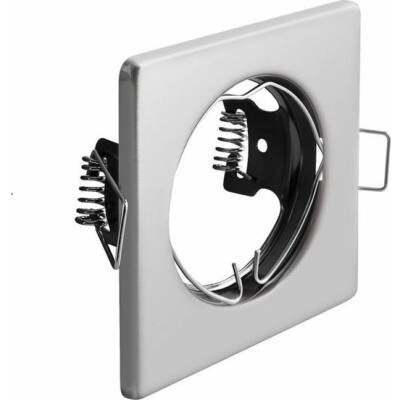 Beépíthető lámpatest fix Porto IP20 négyzet alakú inox