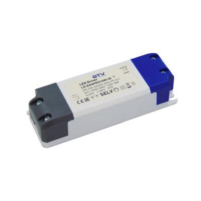 LED tápegység 16W IP20 12V/DC túláram, rövidzár és túlmelegedés védelem