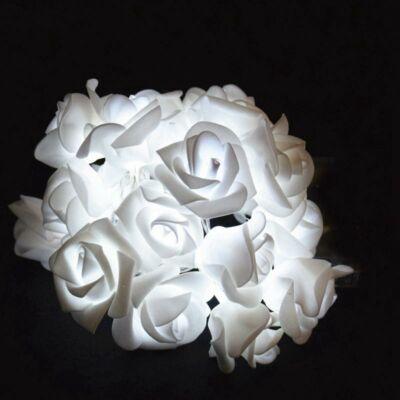 Fényfüzér girland fehér 20LED rózsa 4m 3xAA IP20